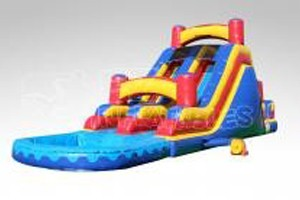 Beans-bounce-houses-2-lane-fun-slide-rear-load